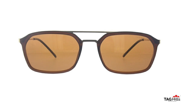 TAG Hills TG S 10404 010 TG-S-10404 Brown Medium Aviator Full Rim UV Polarised Sunglasses