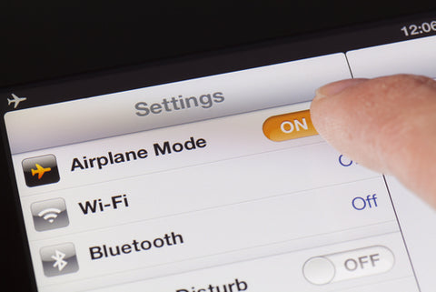Switching to Airplane mode on an iPad_265479530