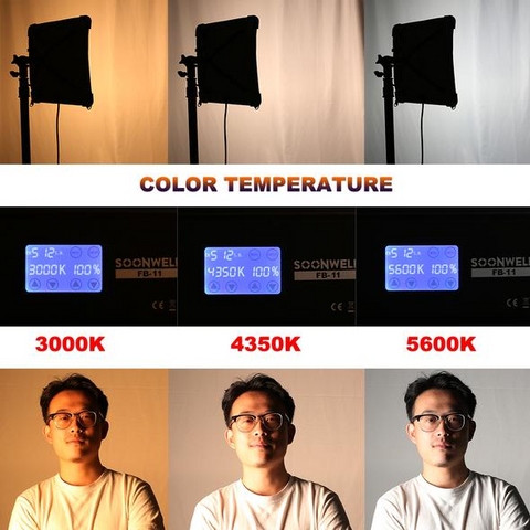 different visual effect at different color temperatures