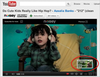 a kid listening to music in a video