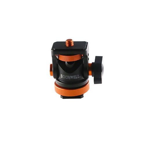 Mini Ball Head Hot Shoe Mount Adapter--S-AK01