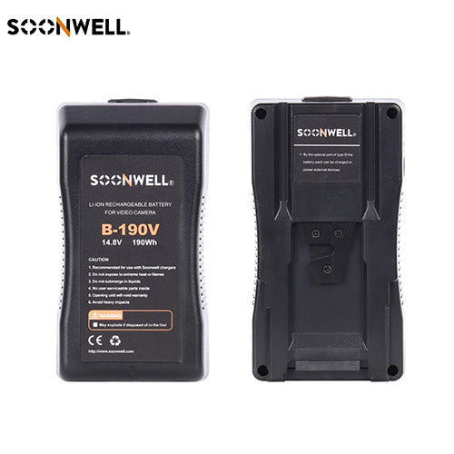 V Mount Battery 190Wh Rechargeable - SOONWELL B-190V