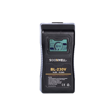V Lock Battery 230Wh with LCD - SOONWELL - BL-230V