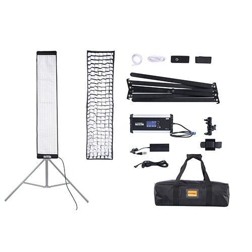 LED Light Mat 4x0.8 ft Bi-Color with Softbox and grid - SOONWELL FB-408