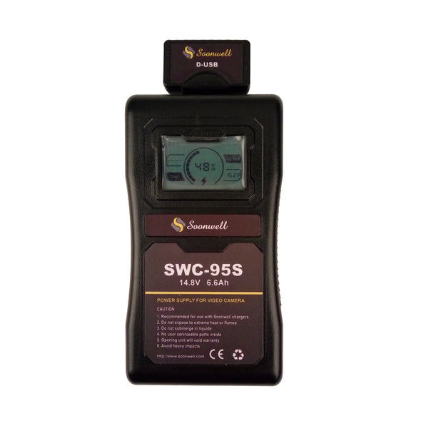 Sony V Mount Battery 95Wh with LCD - SOONWELL SWC-95S