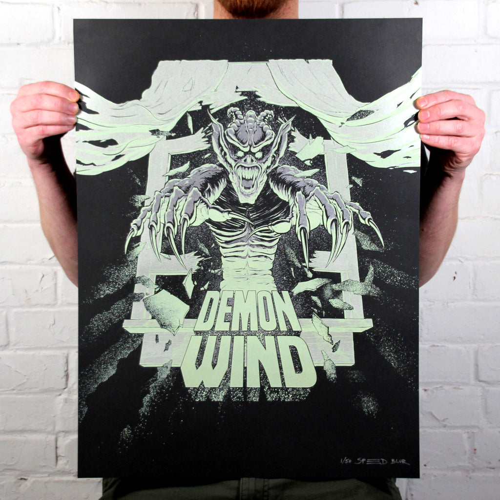 Demon Wind - Limited Edition Screen Print (Glow-in-the-Dark + Metallic)