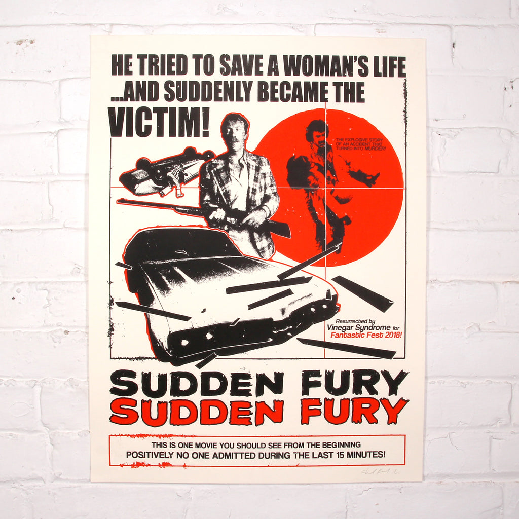 Sudden Fury - Limited Edition Screen Print