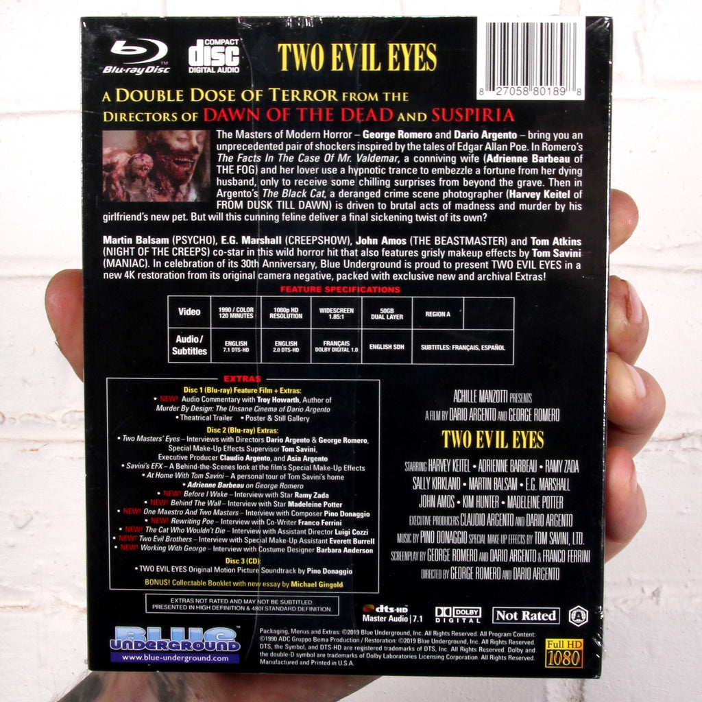 Two Evil Eyes (3-Disc Lenticular Edition) [Blue Underground]
