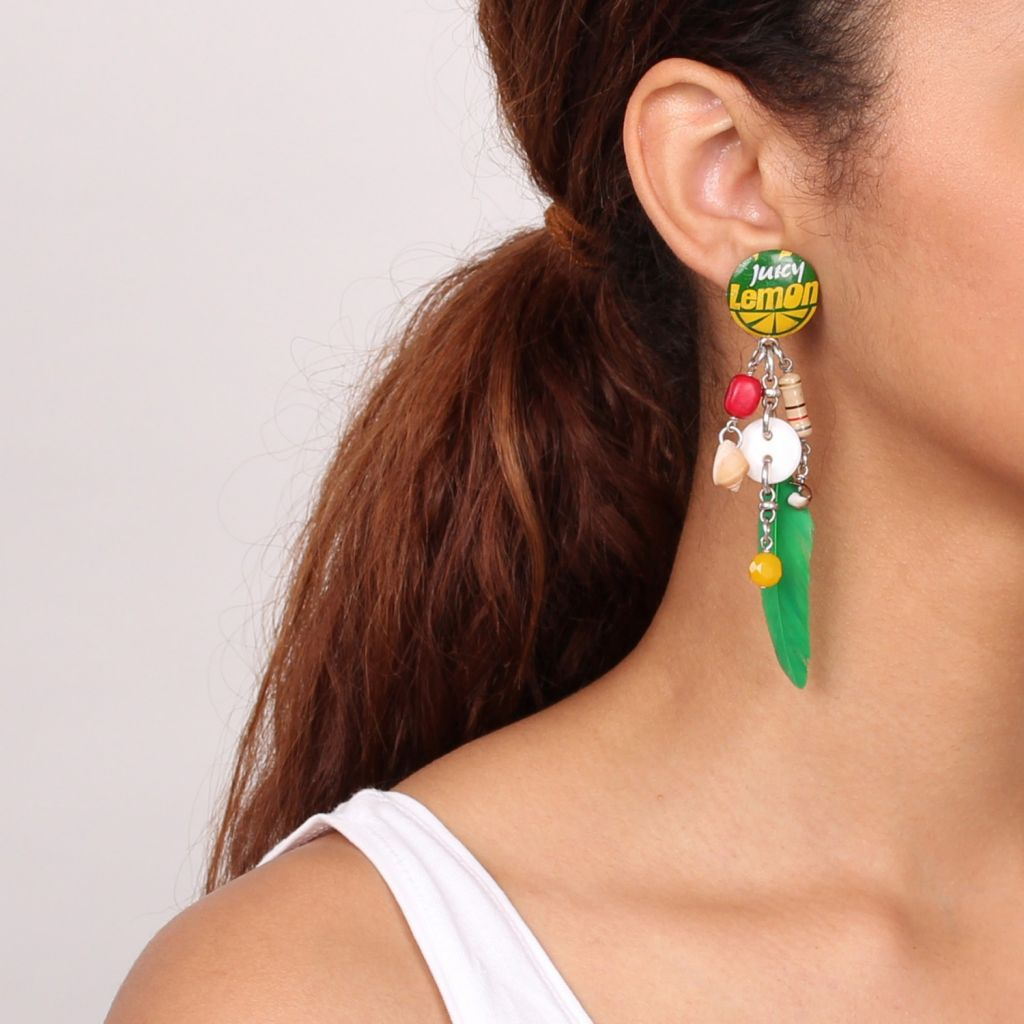 Nature Lemon pendientes