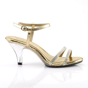 BELLE-316 Elegant 3 Inch High Heels Gold Metallic Sexy Shoes