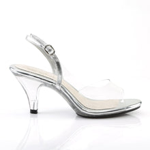 Load image into Gallery viewer, BELLE-350 Elegant 3 Inch High Heels Clear and Silver Sexy Shoe