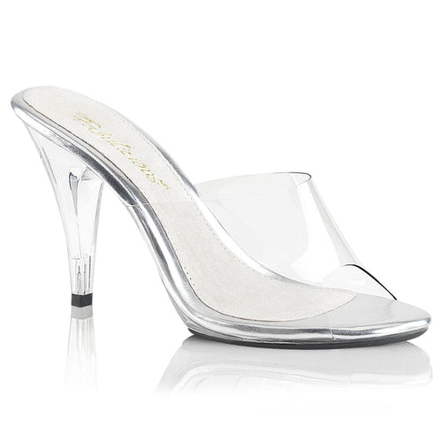 CARESS-401 Fabulicious Sexy Shoes 4 Inch Stiletto Heel Slide Slip on Shoes - Miss Hollywood - 1