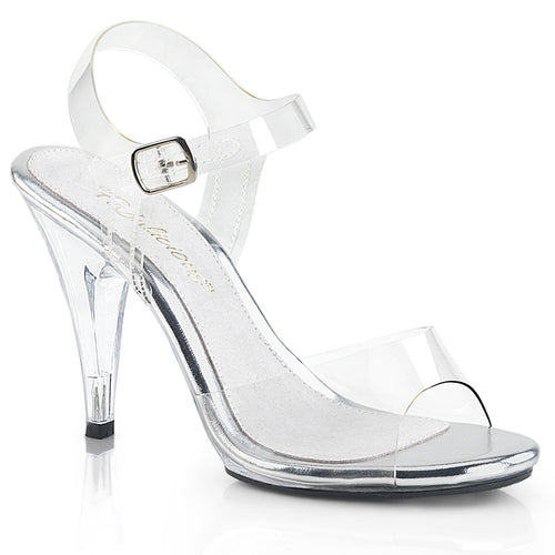 CARESS-408 Sexy Shoes 4 Inch Stiletto Heel Ankle Strap Sandals for Posing