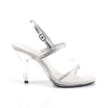 Load image into Gallery viewer, CARESS-439 Fabulicious Sexy Shoes 4 Inch Clear Heel Slide Slip on Shoes
