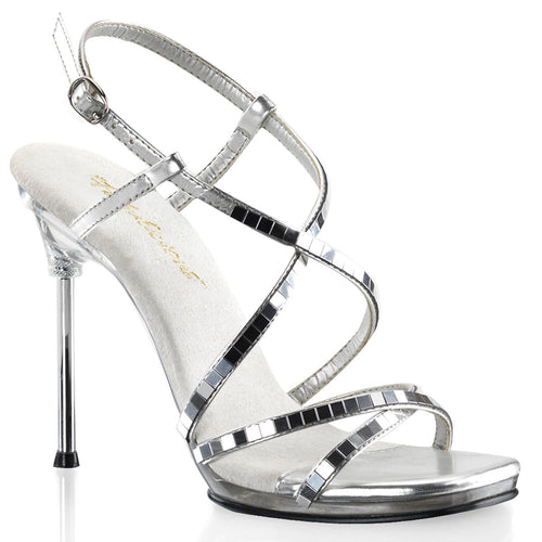 CHIC-09 Fabulicious Sexy Shoes 4 1/2 Inch Heel, 1/4 Inch Platforms Criss Cross Ankle Strap Sandals