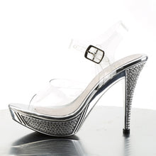 Load image into Gallery viewer, ELEGANT-408 Posing Competition Heels Clear Silver Sexy Shoes