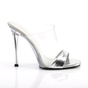 GALA-02L Elegant 4.5 Inch High Heels Silver Sexy Shoes