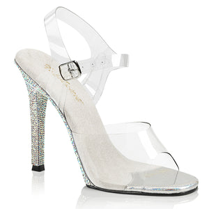 GALA-08DM Posing Competition 4.5 Inch Multi Rhinestones Shoe