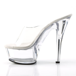 KISS-201 Pleaser 6 Inch High Heels Clear Pole Dancing Platforms