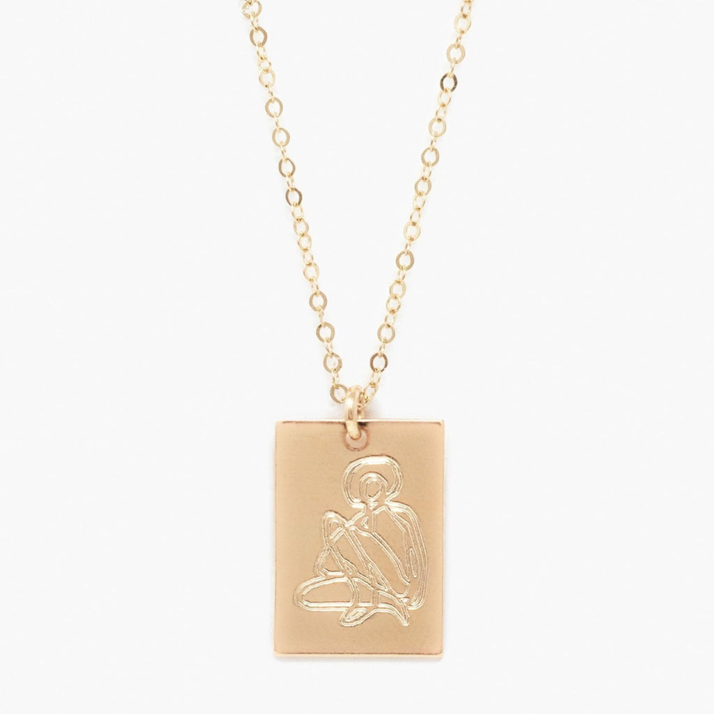 Able - SHE'S WORTH MORE PORTRAIT TAG NECKLACE (Empower)
