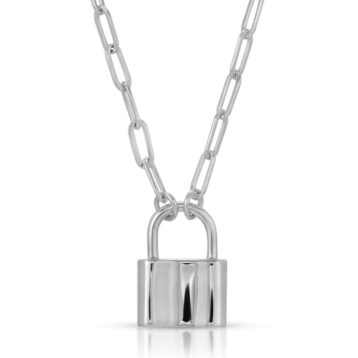Joy Dravecky - Monaco Lock Necklace (Silver)