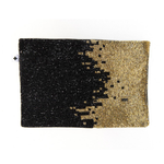 Ink + Alloy - Beaded Clutch (Black & Gold Ombré)