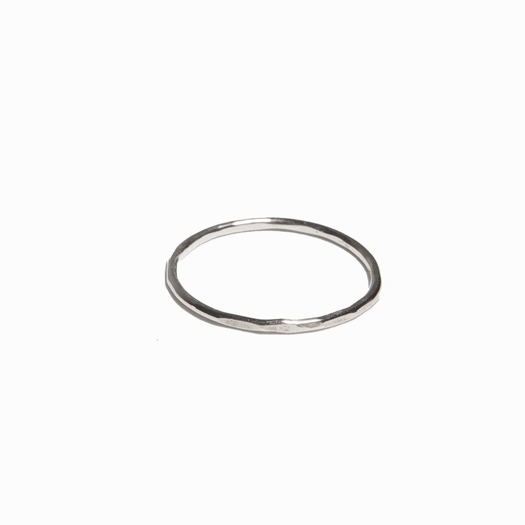ABLE - Hammered Stacking Thin Ring (Silver)