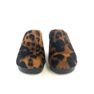 No. 6 - New School Clog (Leopard Pony)