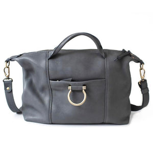 Sapahn - Linda Jean Leather Handbag (Gray)