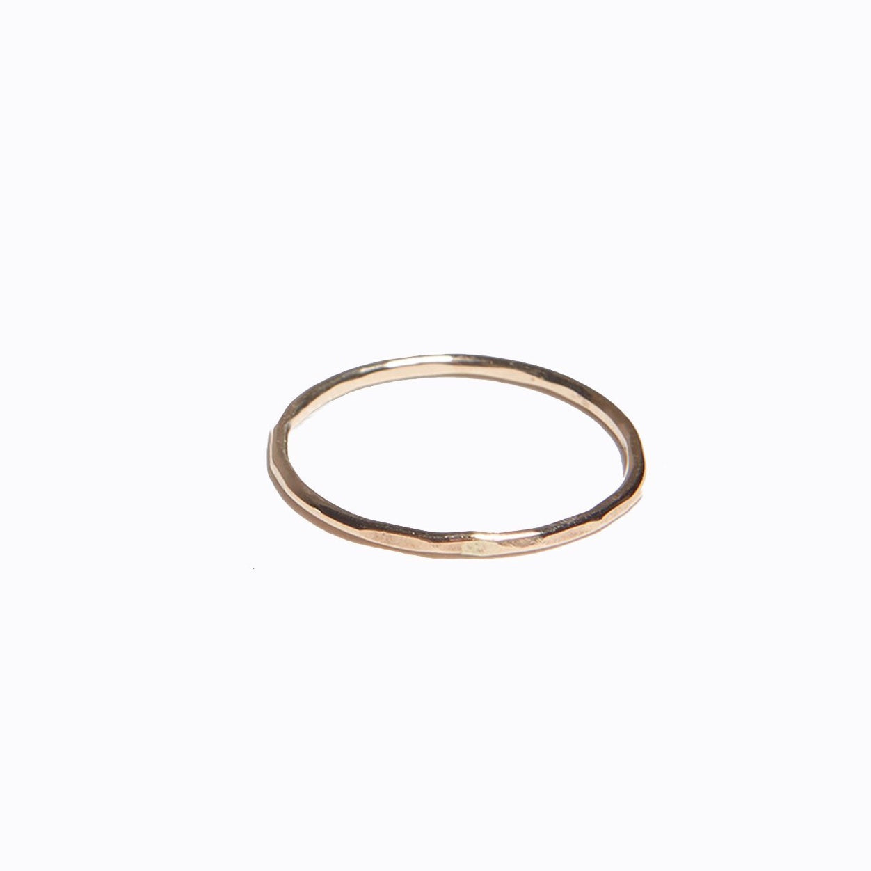ABLE - Hammered Stacking Thin Ring (Gold)