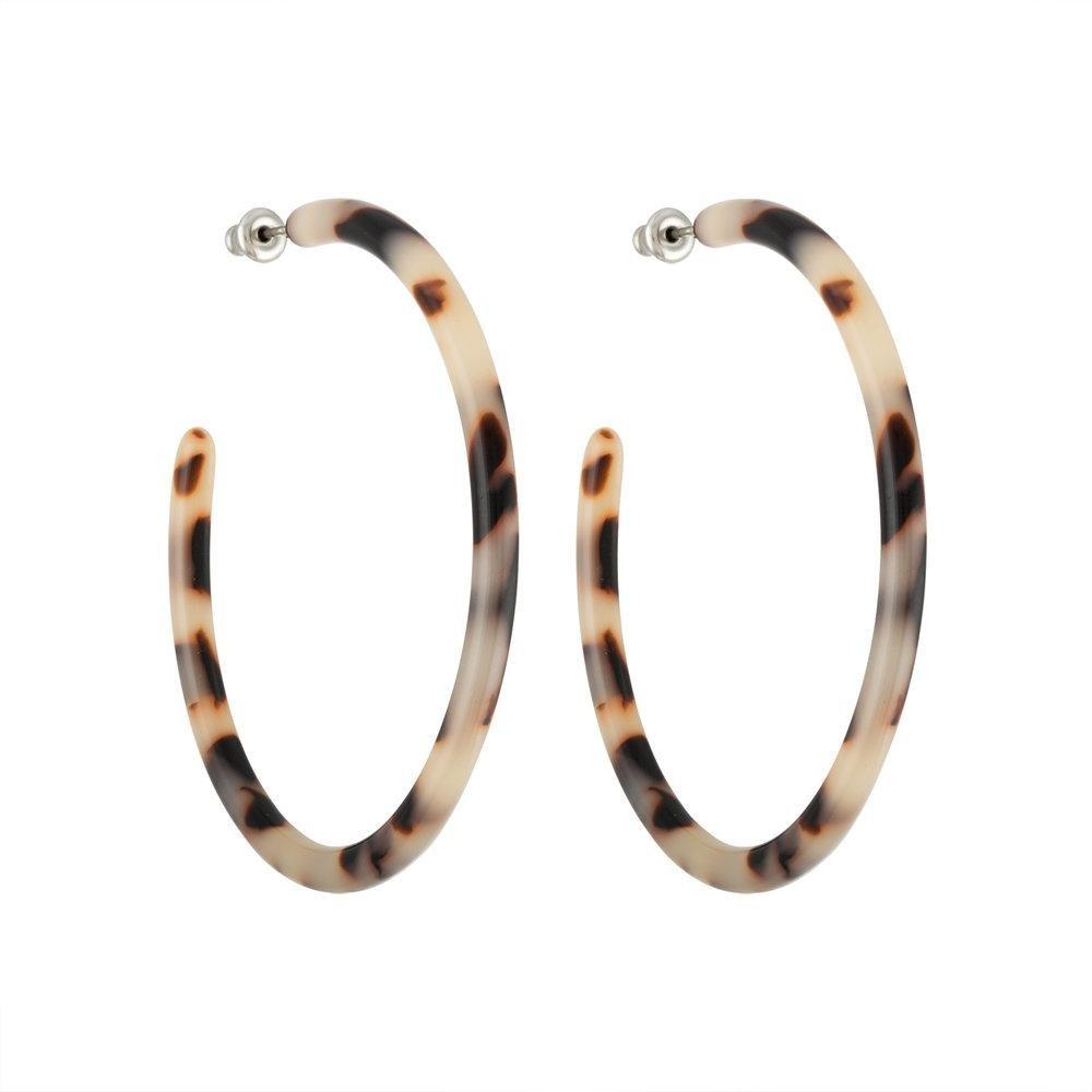Machete - Large Hoops (Ash Blonde Tortoise)