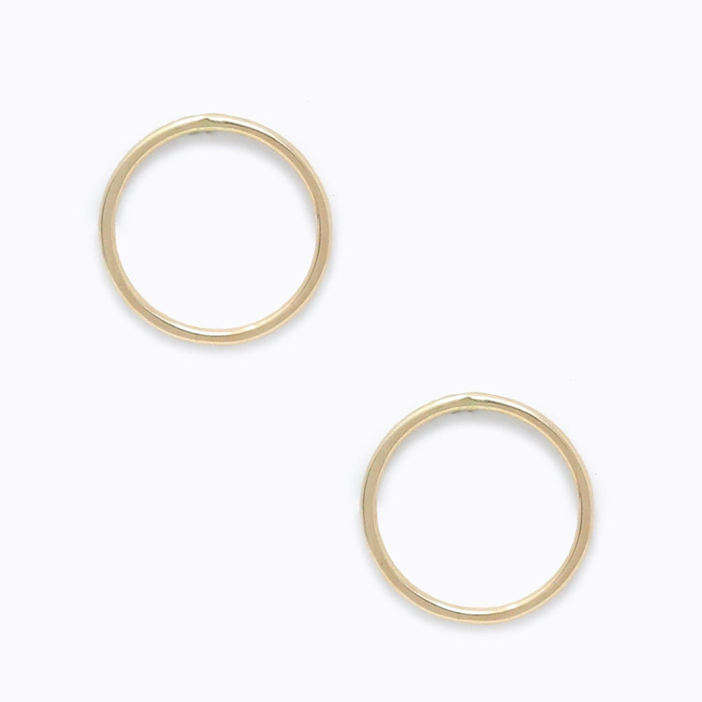 ABLE - Hammered Circle Earrings (Gold)