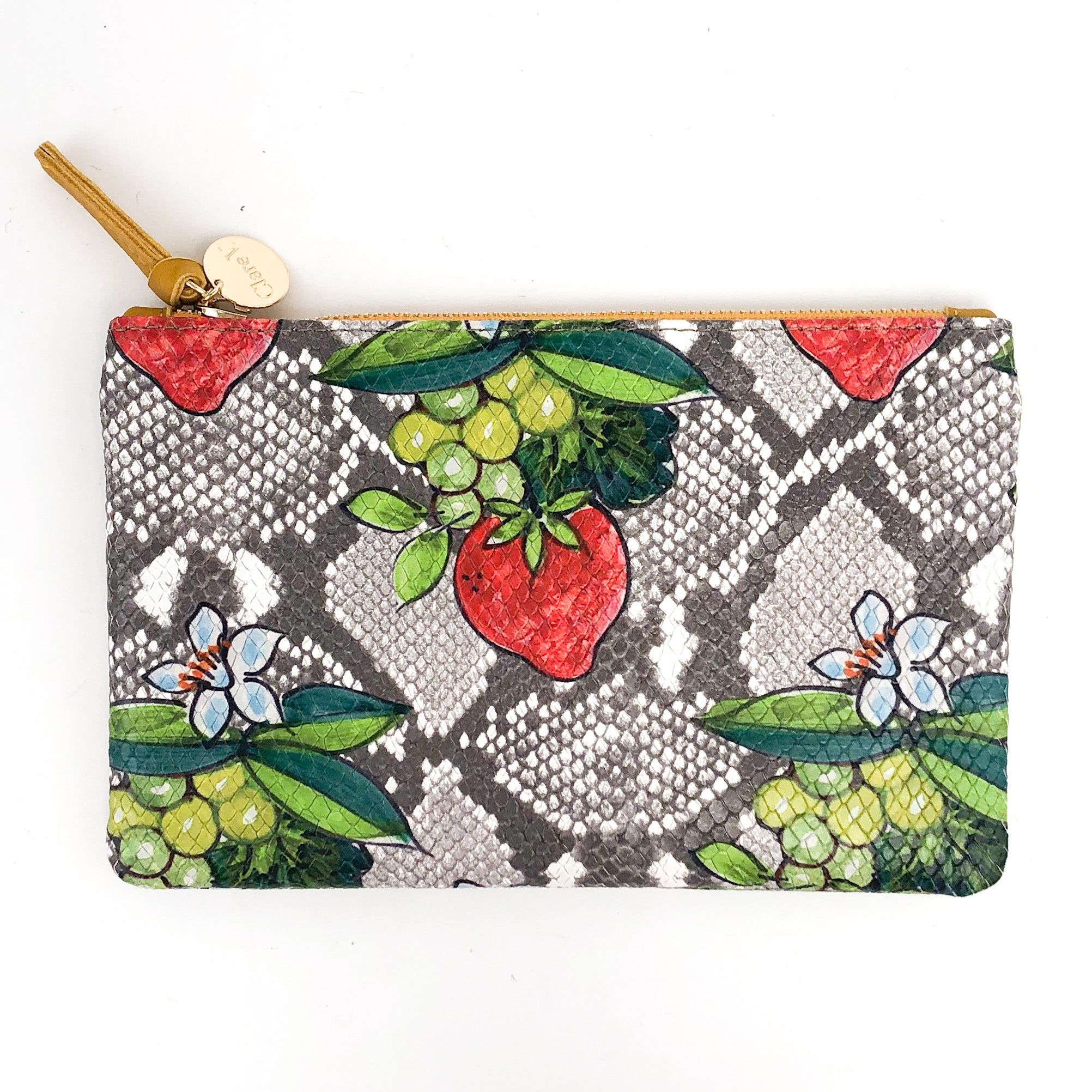 Clare V. - Wallet Clutch (Strawberry Snake)
