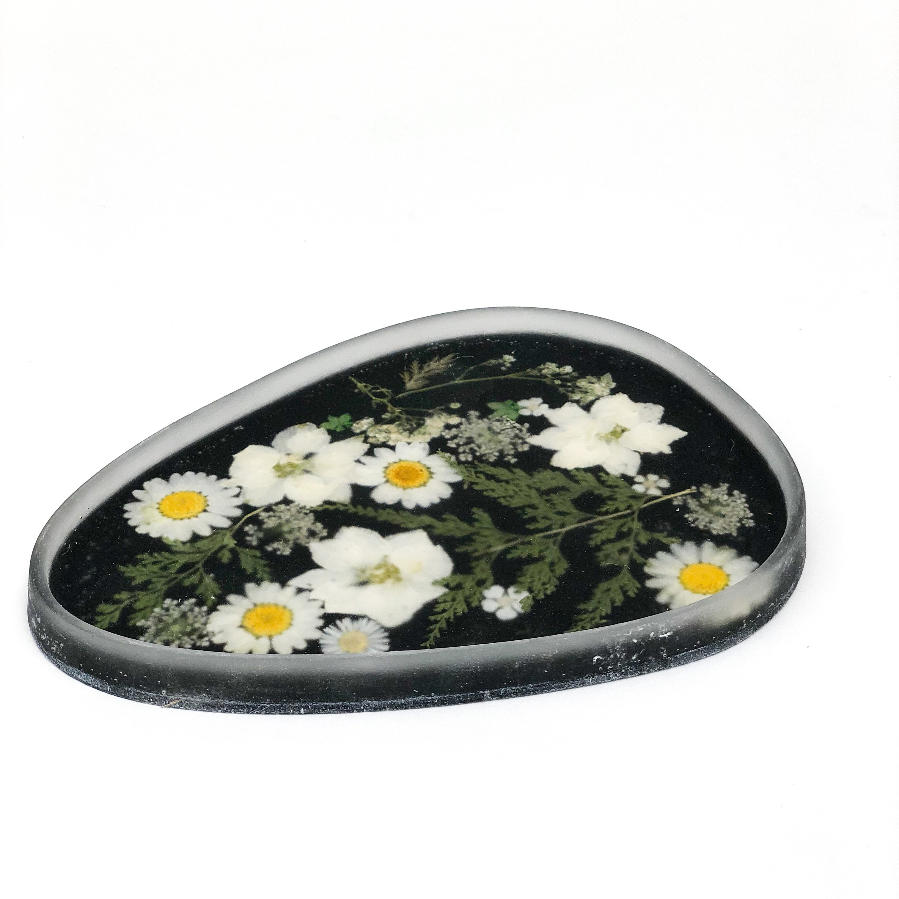 Whiskey + Wine - Floral Tray No. 1 (Large Black)