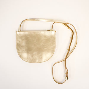 Minor History Smile Crossbody White Gold
