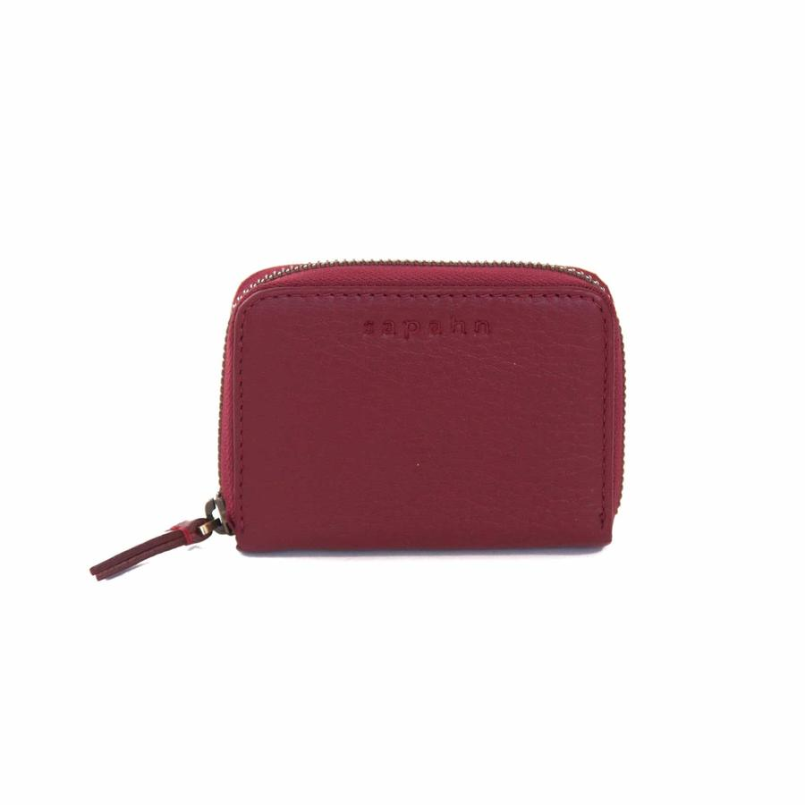 Sapahn - Morrison Leather Accordion Card holder (Deep Red)