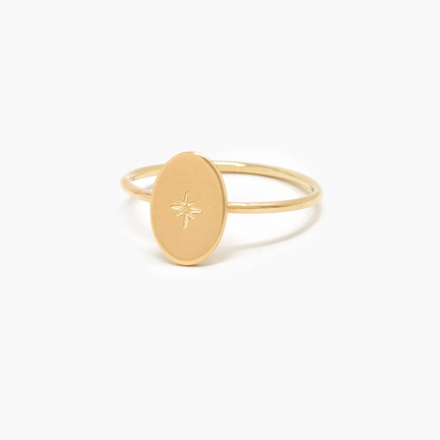 ABLE - Dainty Oval Ring (Gold)