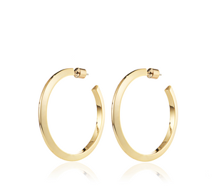Jenny Bird -  Large Toni Hinged Hoops (gold)