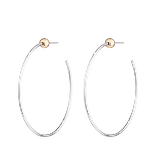 Jenny Bird - Iconic Hoops (Rhodium/Gold)