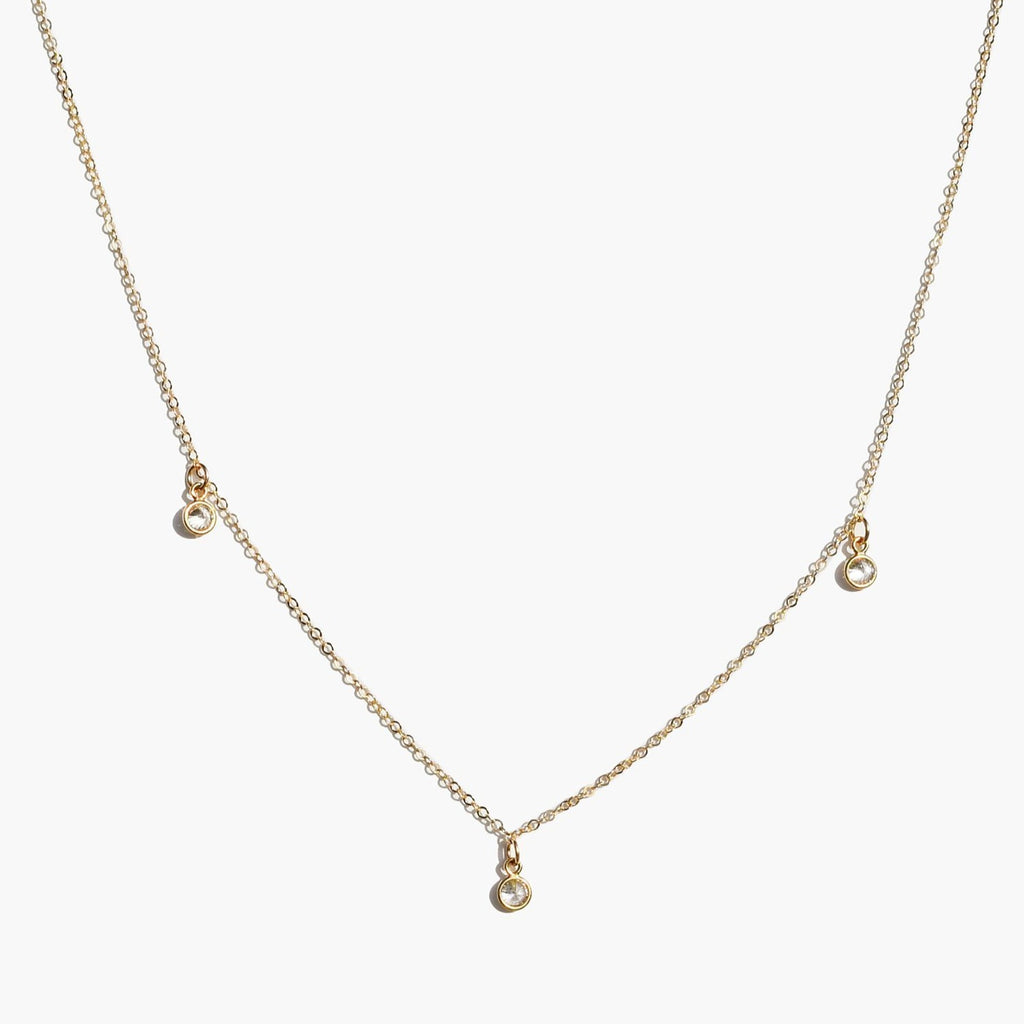 Able - Triple Stella Drop Necklace (Gold)