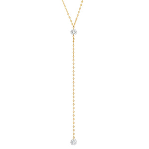 Tai -  Floating CZ Y Necklace