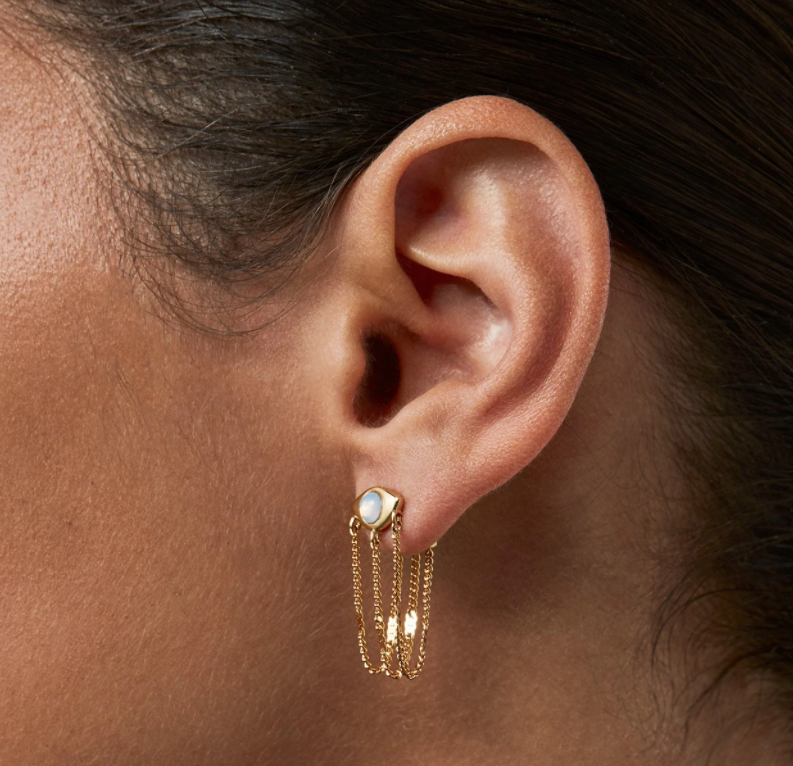 Jenny Bird -  Veaux Drape Earrings (Gold)
