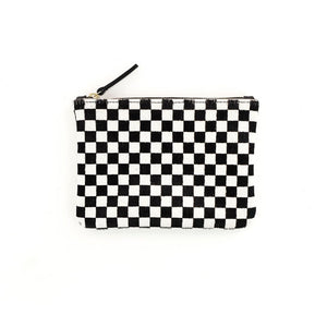 Prime Cut- Cowhide Zipper Pouch (Checkered)