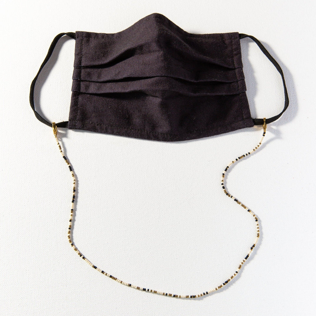 Ink + Alloy - Mask Necklace (Black Confetti)