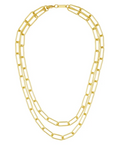 Machete - Paperclip Chain Layered Necklace (Gold)