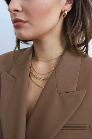 Machete - Round Box Chain Necklace (Gold)