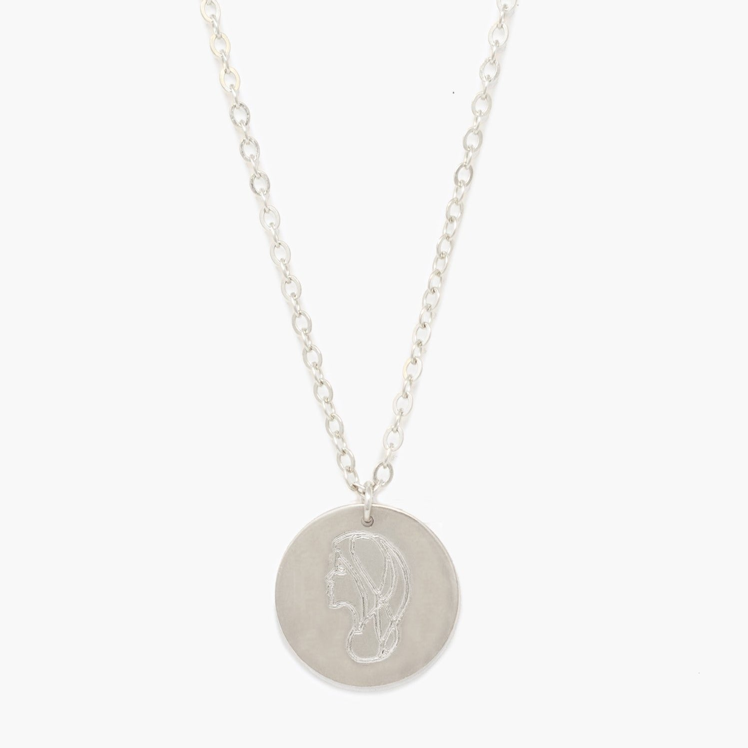 Able - She's Worth more Portrait Heirloom Necklace