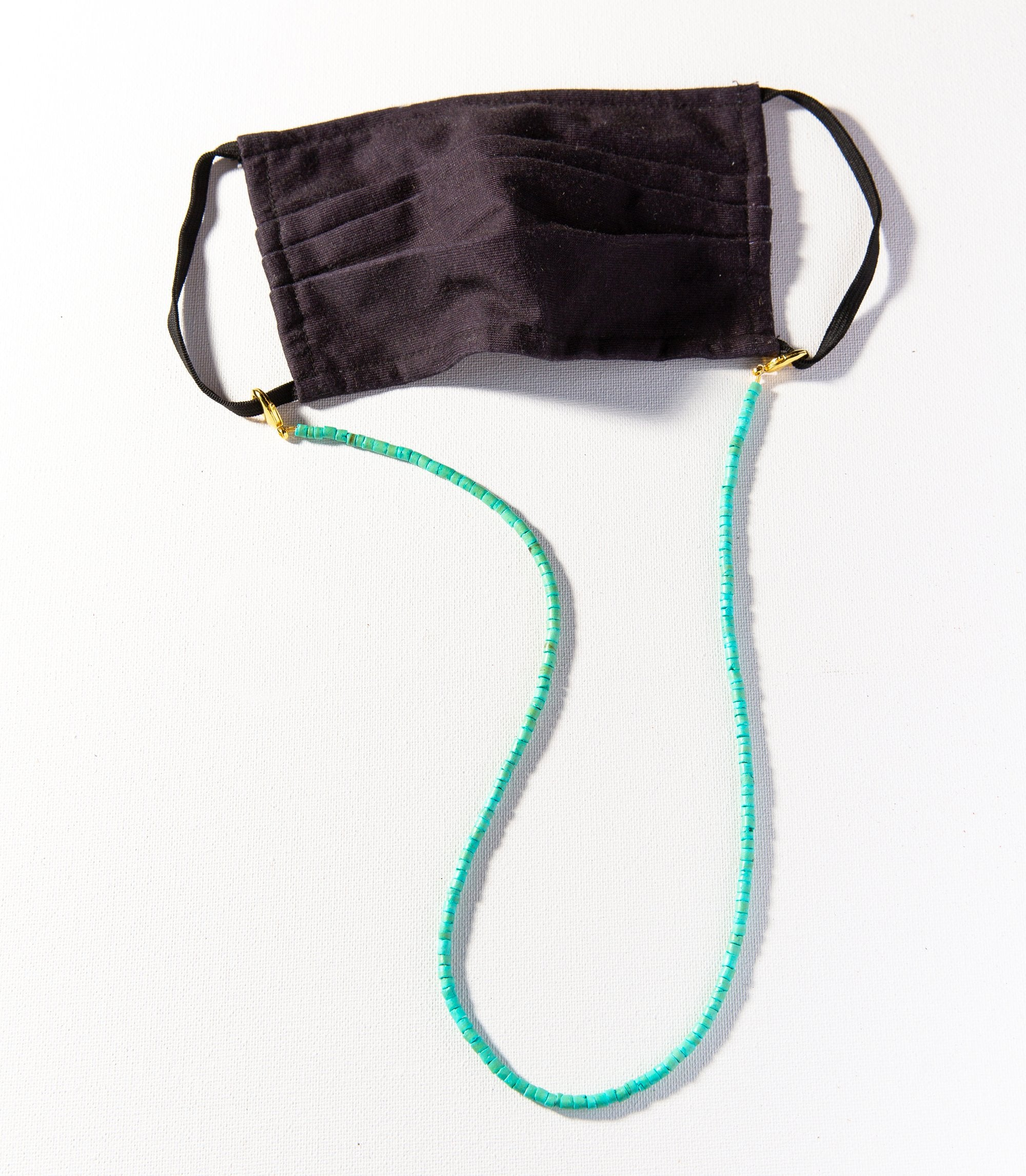 Ink + Alloy - Coconut Mask Necklace (Turquoise)