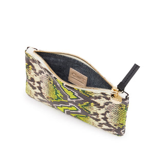 Clare V. - Wallet Clutch (yellow riveria snake)