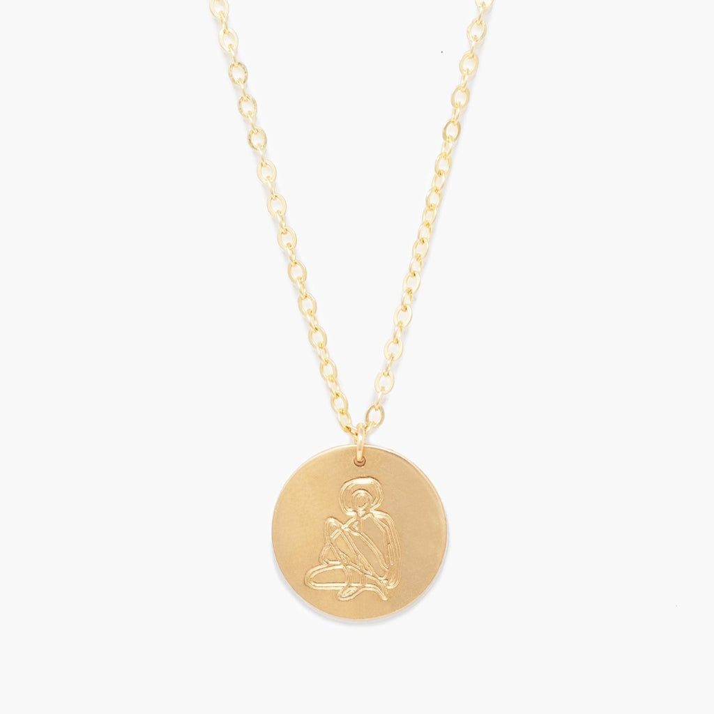 Able - She's Worth more Portrait Heirloom Necklace (gold)